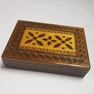 Vintage Handmade Card Box Trinket Boho Home Decor